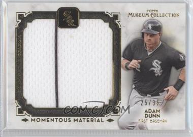2014 Topps Museum Collection Momentous Material Jumbo Relics Gold #MMJR-AD - Adam Dunn /35