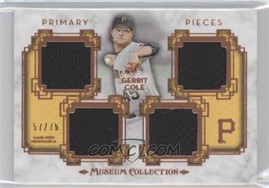 2014 Topps Museum Collection Single-Player Primary Pieces Quad Relics Copper #PPQR-GC - Gerrit Cole /75