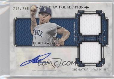 2014 Topps Museum Collection Single-Player Signature Swatches Dual #SSD-TW - Taijuan Walker /299