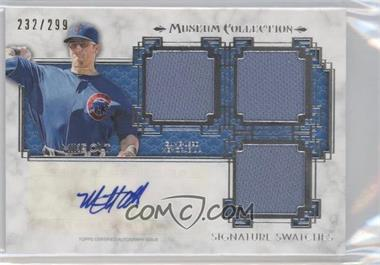 2014 Topps Museum Collection Single-Player Signature Swatches Triple #SST-MO - Mike Olt /299