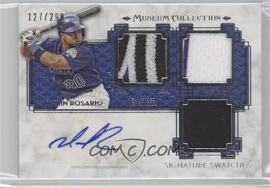 2014 Topps Museum Collection Single-Player Signature Swatches Triple #SST-WR - Wilin Rosario /299