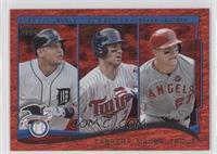 AL Batting Average Leaders (Miguel Cabrera, Joe Mauer, Mike Trout)