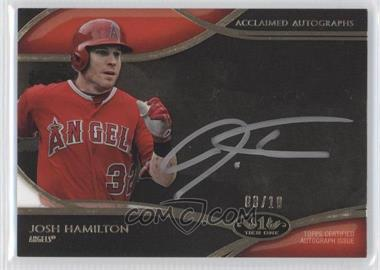 2014 Topps Tier One Acclaimed Autographs Silver Ink #AA-JHA - Josh Hamilton /10