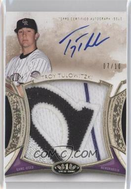 2014 Topps Tier One Prodigious Patches Autograph Relics #PPAR-TT - Troy Tulowitzki /10