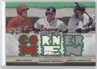 Joey Votto, Freddie Freeman, Adrian Gonzalez /18