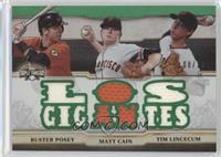 Buster Posey, Matt Cain, Tim Lincecum /18
