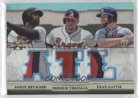 Jason Heyward, Freddie Freeman, Evan Gattis /3