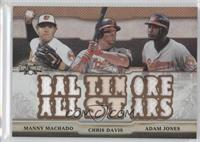 Manny Machado, Adam Jones, Chris Davis /27