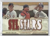 Shelby Miller, Yadier Molina, Adam Wainwright /27