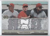 Aroldis Chapman, Tony Cingrani, Johnny Cueto /36