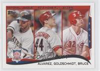 NL Home Run Leaders (Pedro Alvarez, Miguel Gonzalez, Paul Goldschmidt)