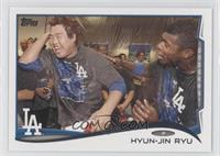 Hyun-jin Ryu (With Teammates)