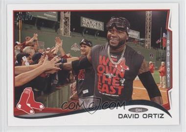 2014 Topps #475.2 - David Ortiz (goggles on head)