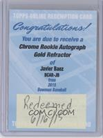 Javier Baez /50 [REDEMPTION Being Redeemed]