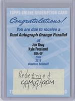 Kyle Freeland, Jon Gray /25 [REDEMPTION Being Redeemed]