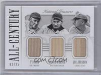 Honus Wagner, Joe Jackson, Ty Cobb /25