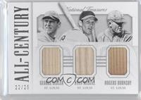 George Sisler, Stan Musial, Rogers Hornsby /25