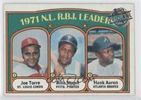 Joe Torre, Willie Stargell, Hank Aaron