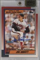 Jim Abbott (1989-90 Topps Major League Debut) /16 [ENCASED]