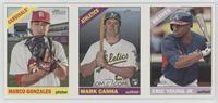 Marco Gonzales, Mark Canha, Eric Young Jr.