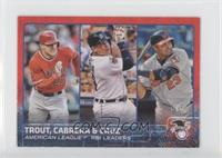 Mike Trout, Nelson Cruz, Miguel Cabrera /5