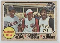 Tony Oliva, Chico Cardenas, Roberto Clemente