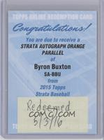 Byron Buxton /125 [REDEMPTION Being Redeemed]