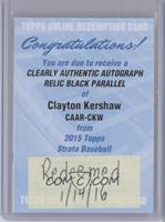Clayton Kershaw /50 [REDEMPTION Being Redeemed]