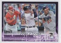 Mike Trout, Nelson Cruz, Miguel Cabrera