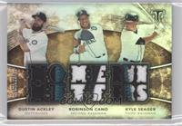 Dustin Ackley, Kyle Seager, Robinson Cano /9