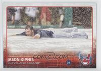 Jason Kipnis (Sliding on Tarp)