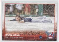 Jason Kipnis (Sliding on Tarp)
