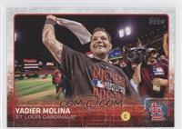 Yadier Molina (Celebrating)