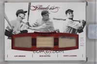 Bob Meusel, Lou Gehrig, Tony Lazzeri [ENCASED] #1/20
