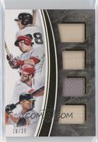 Bryce Harper, Buster Posey, Giancarlo Stanton, Mike Trout /25