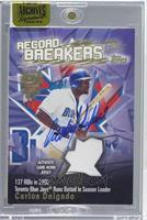 Carlos Delgado (2002 Topps Record Breakers Materials) [ENCASED] #1/3