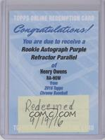 Henry Owens /250 [REDEMPTION Being Redeemed]