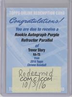 Trevor Story /250 [REDEMPTION Being Redeemed]