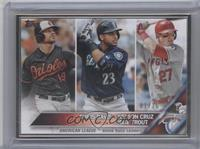 Chris Davis, Mike Trout, Nelson Cruz /16