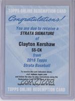Clayton Kershaw /55 [REDEMPTIONBeingRedeemed]