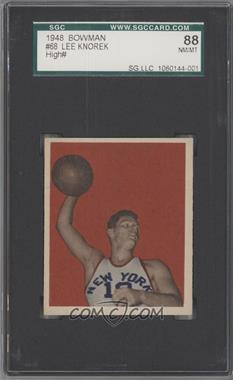 1948 Bowman #68 - Lee Knorek [SGC 88]