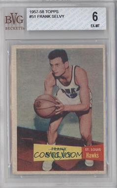 1957-58 Topps - [Base] #51 - Frank Selvy [BVG6]