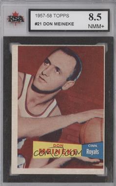 1957-58 Topps #21 - Don Meineke [KSA8.5]