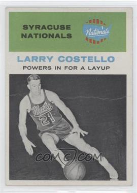1961-62 Fleer - [Base] #48 - Larry Costello