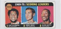 Kareem Abdul-Jabbar, Jerry West, Elvin Hayes [Poor to Fair]