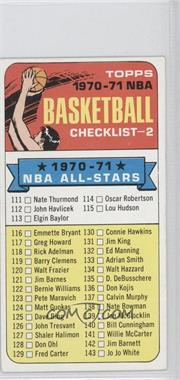 "1970-71 Topps #101.1 - Checklist (""1970-71"" in Black on Front)"