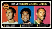 Jerry West, Kareem Abdul-Jabbar, Elvin Hayes [GOOD]