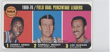 1970-71 Topps #3 - Johnny Green, Darrall Imhoff, Lou Hudson
