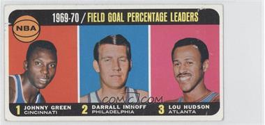 1970-71 Topps #3 - Johnny Green, Darrall Imhoff, Lou Hudson [GoodtoVG‑EX]
