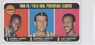 1970-71 Topps #3 - Johnny Green, Darrall Imhoff, Lou Hudson [Good to VG‑EX]